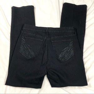 NYDJ Mini Boot Jean Black Embellished Pockets 14